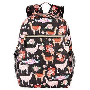 Handbags - Back to school backpack Llamas Floral nylon Cute!